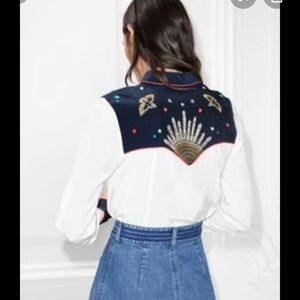 & other stories beaded ranch/rodeo shirt